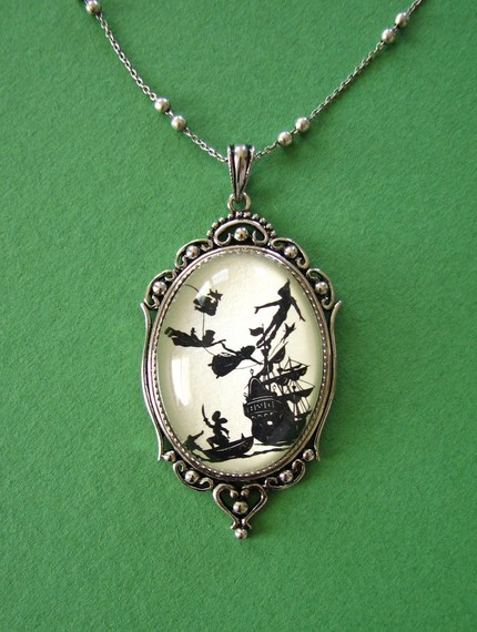 Peter Pan Necklace, pendant on chain