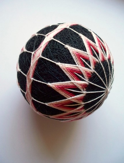 Red and Pink Beauty Temari
