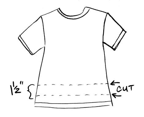 T-shirt-cut